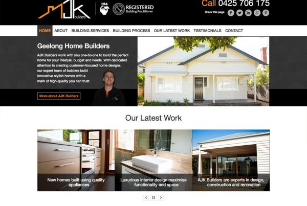 AJK Buillders - Tradie Websites