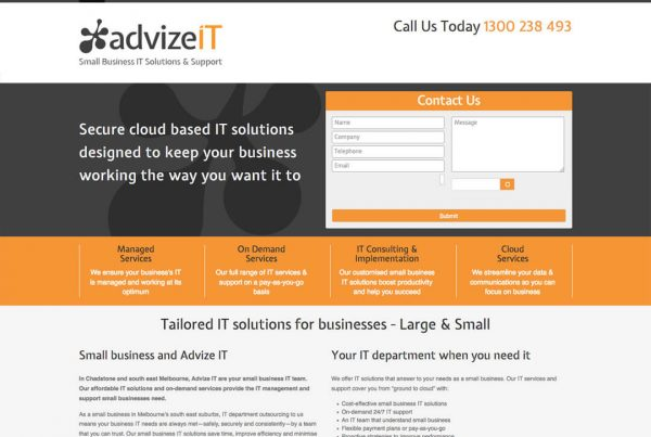 Advize IT - Custom Website Design