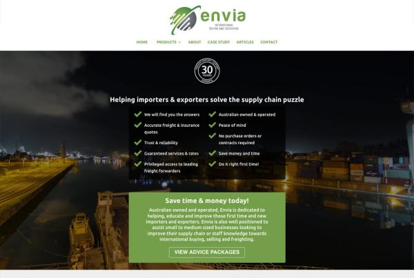Envia - Custom Ecommerce Website Design