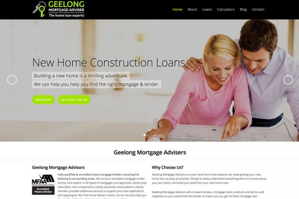 Geelong Mortgage Adviser Web Design