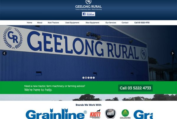 Geelong Rural - Custom Website Design