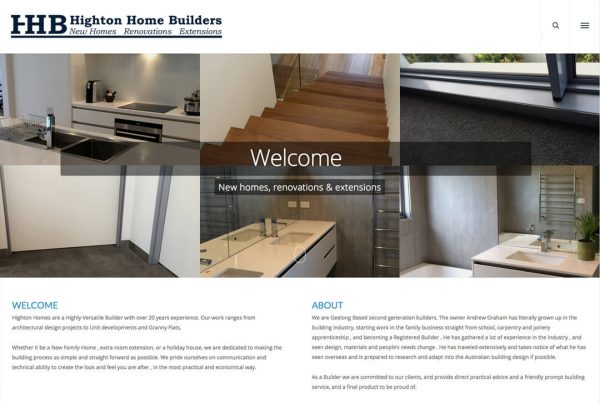 Highton Home Builders - Tradie Website Design