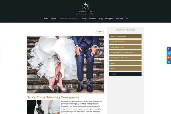 JC Celebrant - Wedding Celebrant Website Design