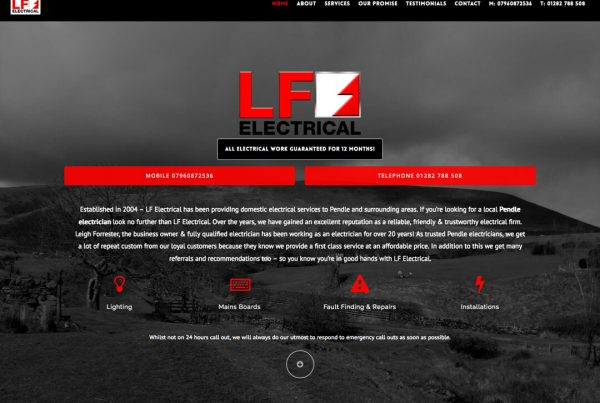 LF Electrical - Tradie Website Design