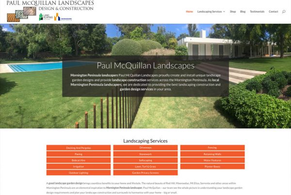 Landscaper Website Design
