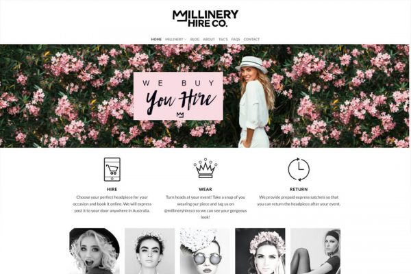 Millinery Hire Co Ecommerce Shop Website Design