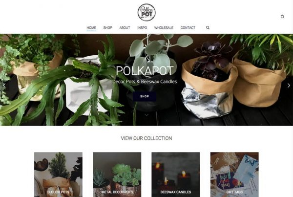 Polkapot Online Store Ecommerce Website Design