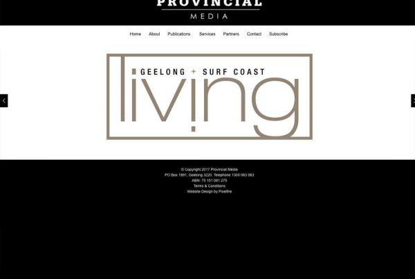 Provincial Living Magazine Webiste Design