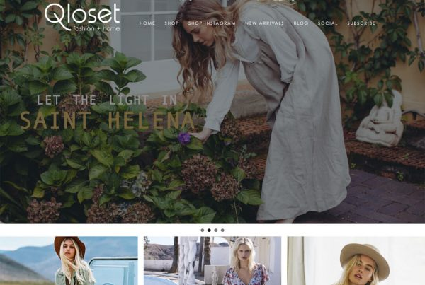 Qloset Online Shop Ecommerce Website Design