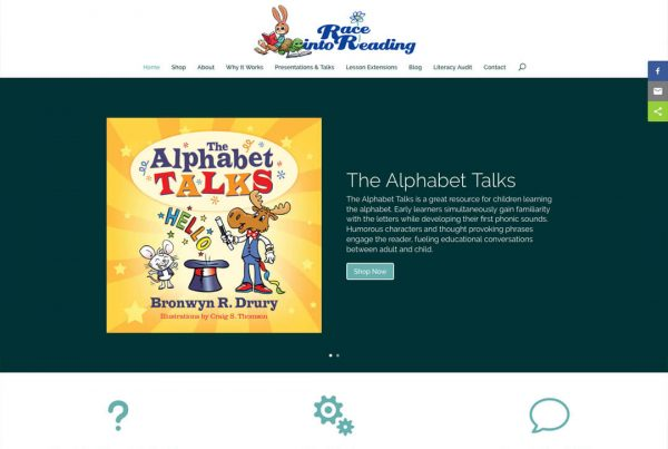 Race Into Reading Ecommerce Website Design