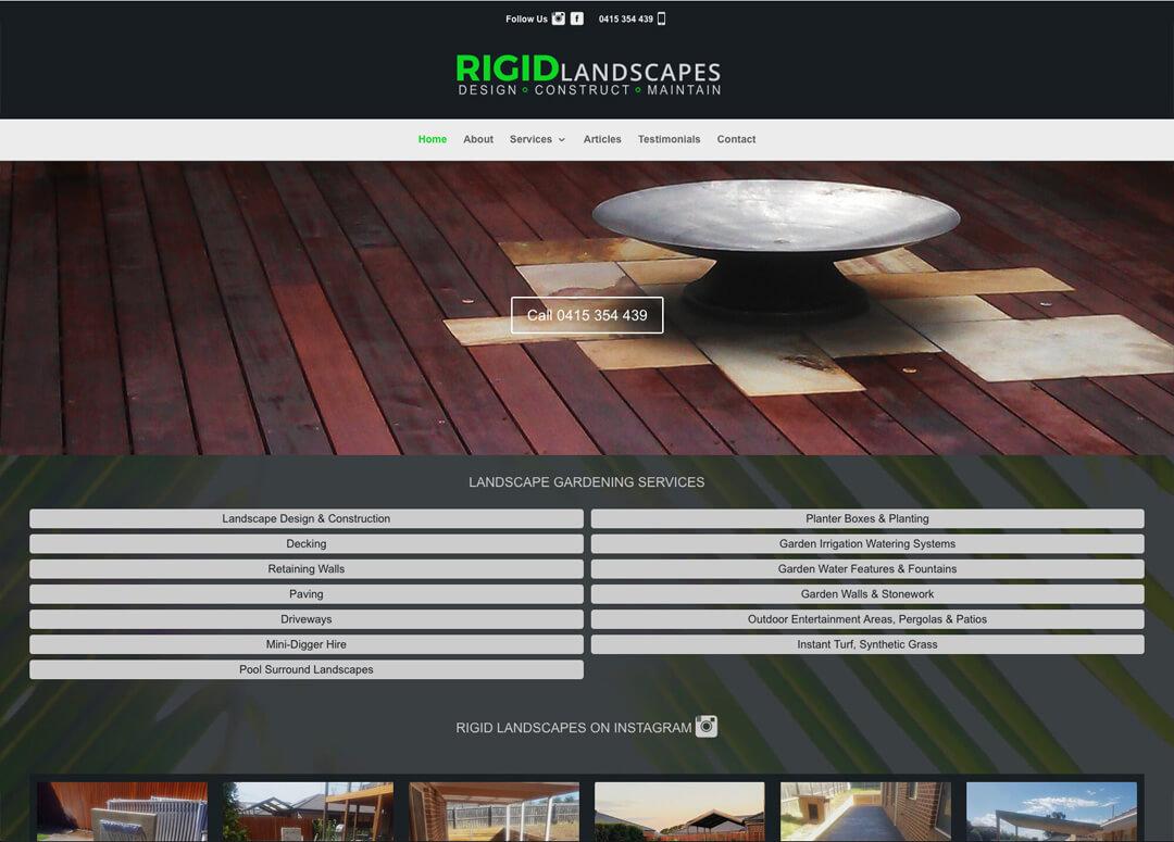 Garden Landscape Website Design