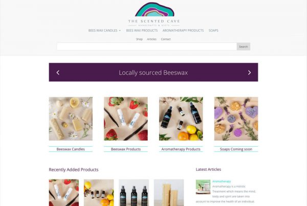 The Scented Cave - Ecommerce Website Design Geelong