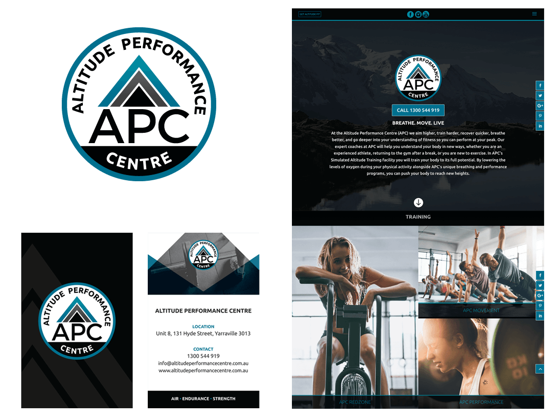 Altitude Performance Centre Branding