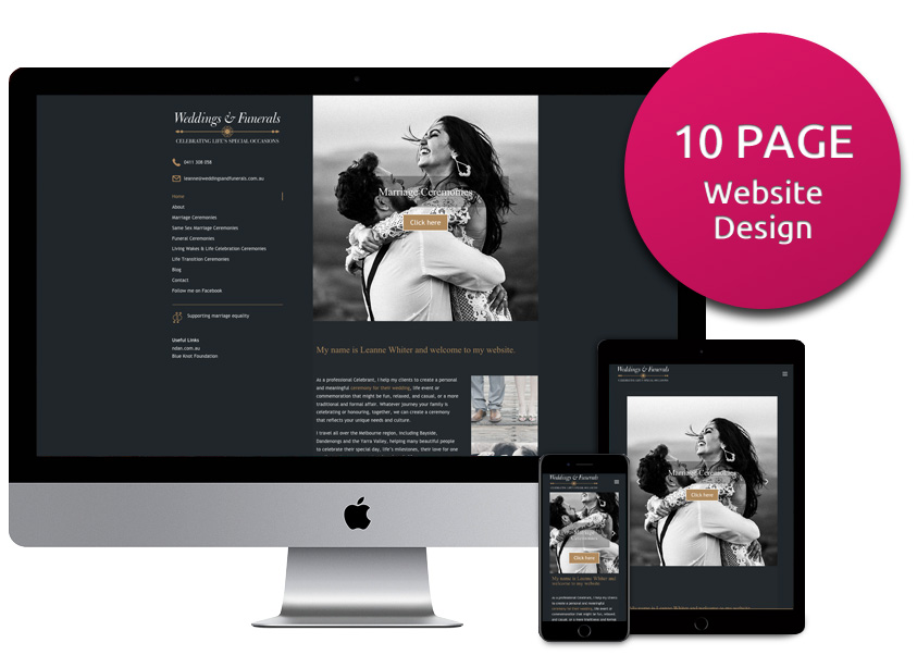 Ten page website design package