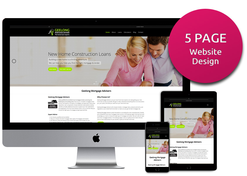 Five Page Website Design Package