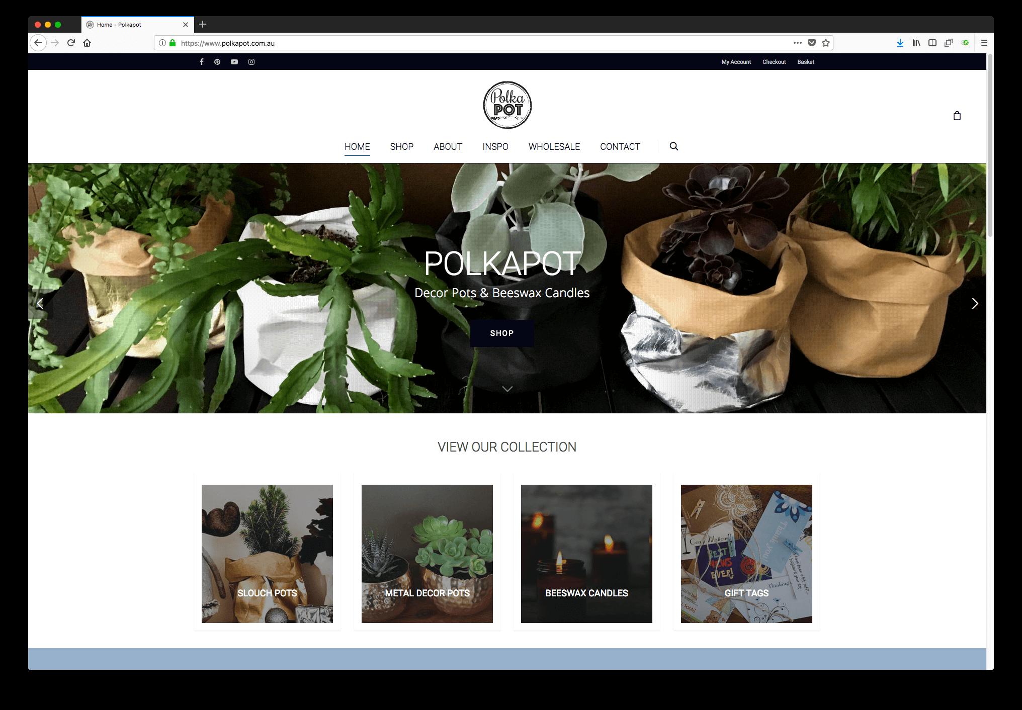 Polkapot Ecommerce Website