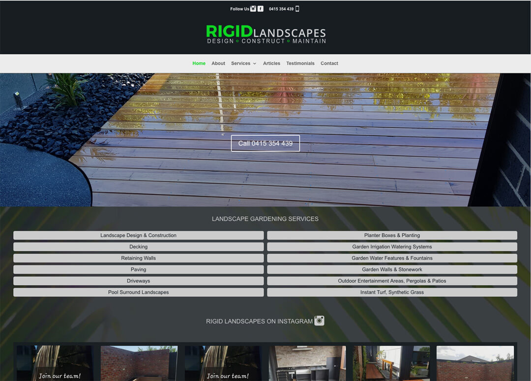Rigid Landscapes - Geelong Landscaping